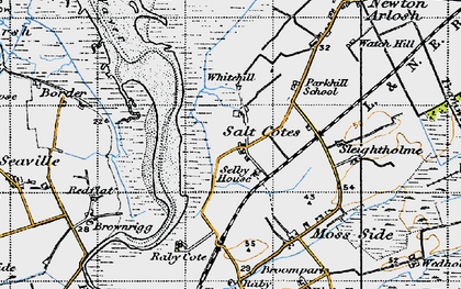 Old map of Whitehill in 1947