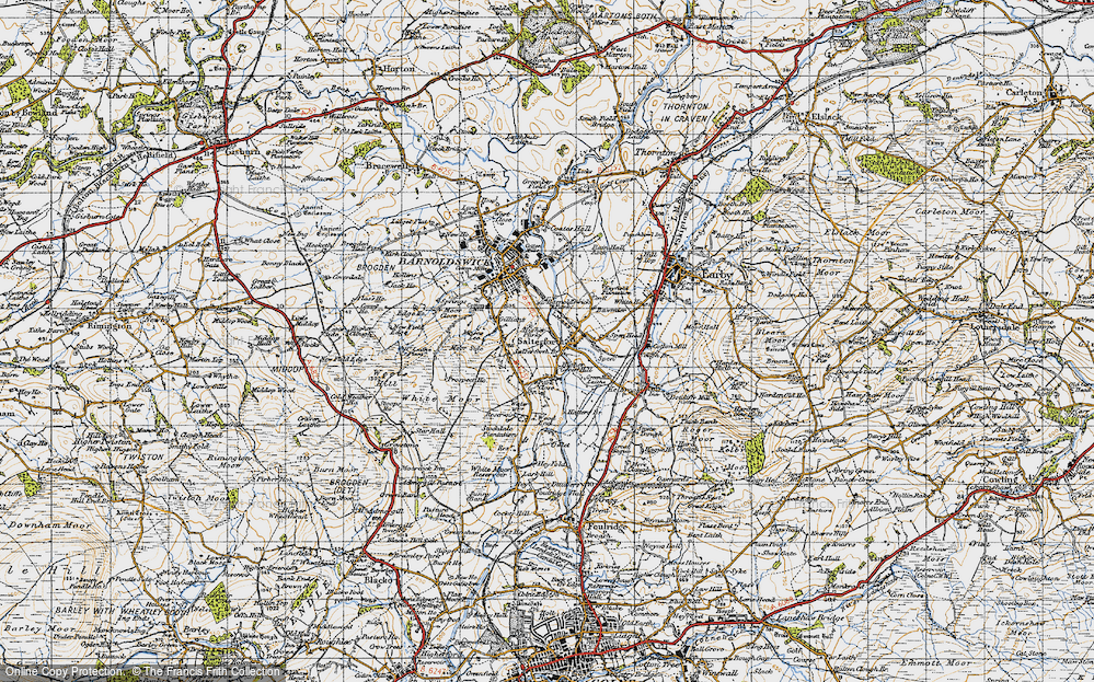 Old Map of Historic Map covering Letcliffe Country Park in 1947