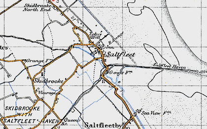 Old map of Saltfleet in 1946