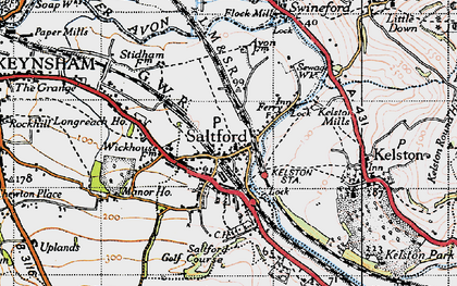 Old map of Avon Valley Country Park in 1946