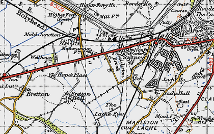 Old map of Saltney in 1947