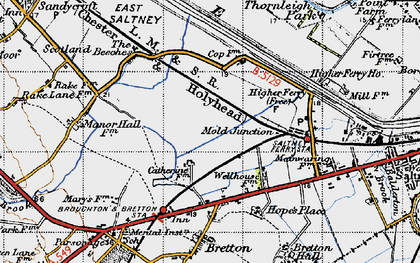 Old map of Saltney Ferry in 1947