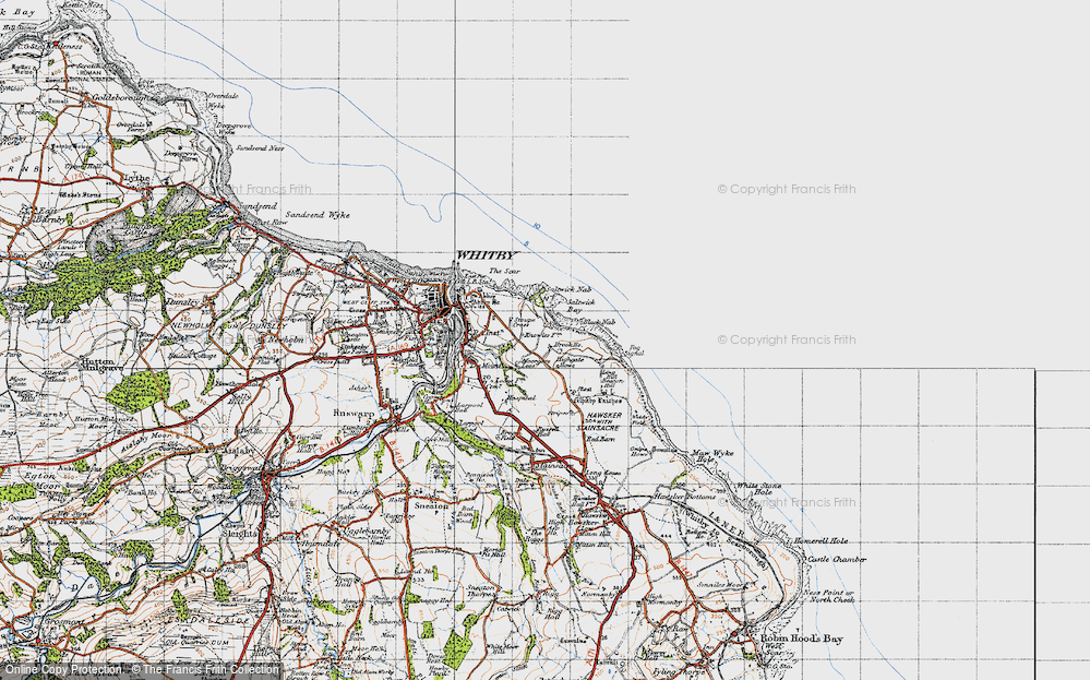 Old Map of Saltwick Bay, 1947 in 1947