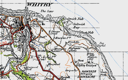 Old map of Saltwick Bay in 1947