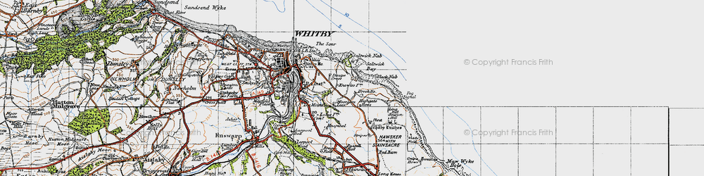 Old map of Widdy Field in 1947