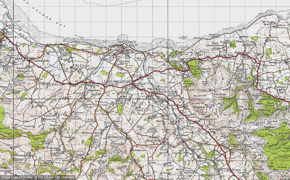 Old Map of Sampford Brett, 1946 in 1946