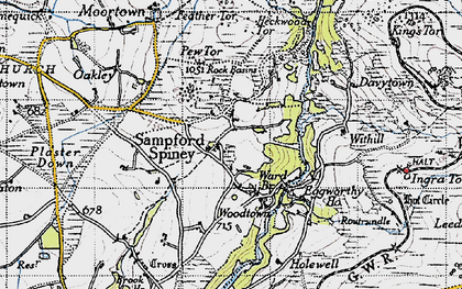 Old map of Withill in 1946
