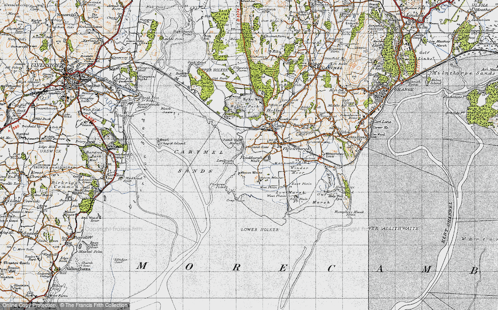 Old Map of Historic Map covering Lenibrick Point in 1947