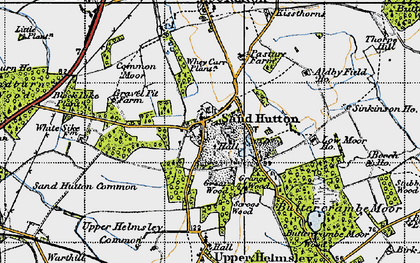 Old map of Sand Hutton in 1947