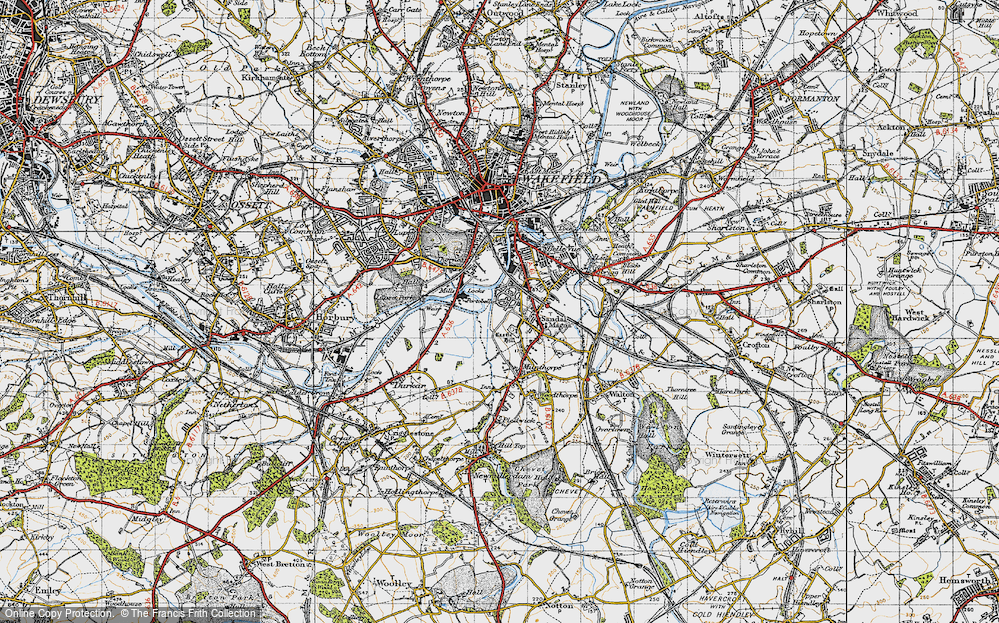 Old Map of Sandal, 1947 in 1947