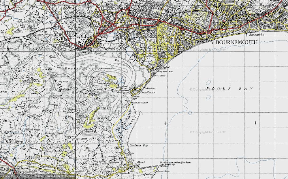 Old Maps of Sandbanks Francis Frith