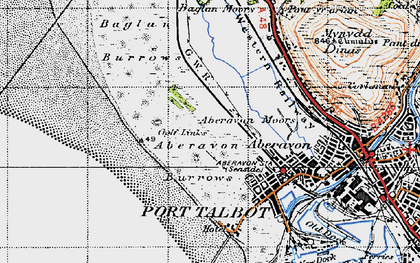 Old map of Witford Point in 1947