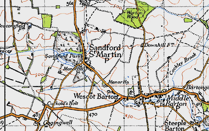 Old map of Worton Wood in 1946