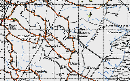 Old map of Wyberton Marsh in 1946