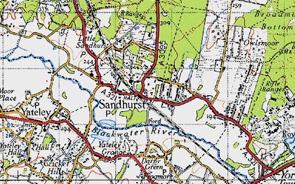 Old map of Sandhurst in 1940