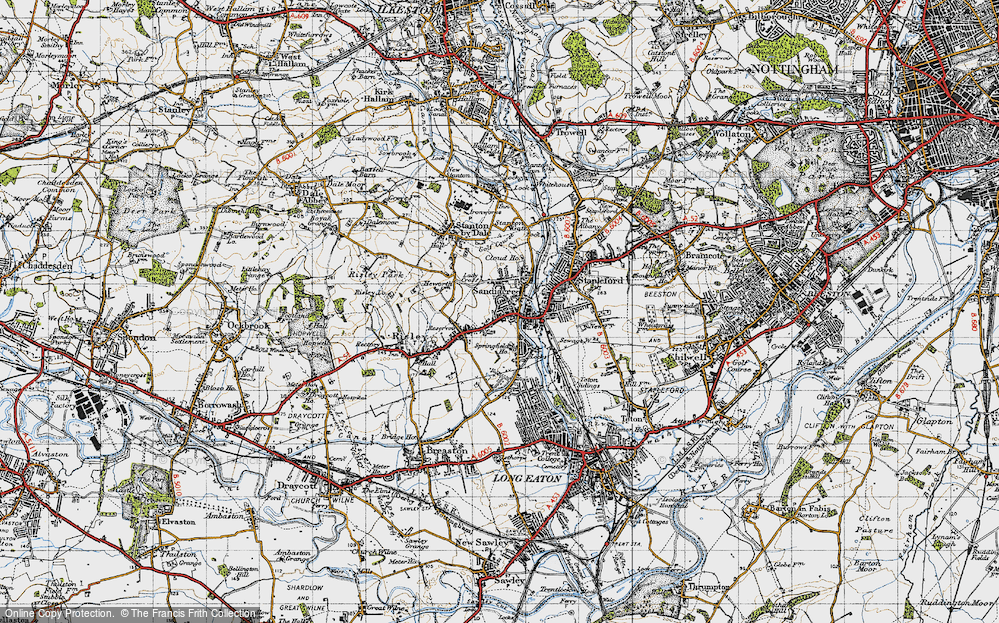 Old Map of Sandiacre, 1946 in 1946