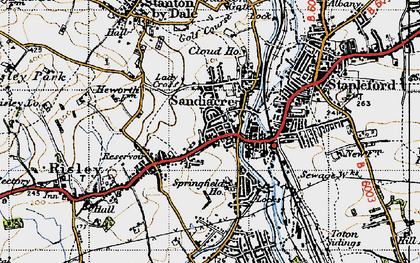 Old map of Sandiacre in 1946