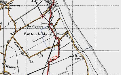 Old map of Sandilands in 1946