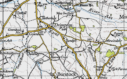 Old map of West Swilletts in 1945