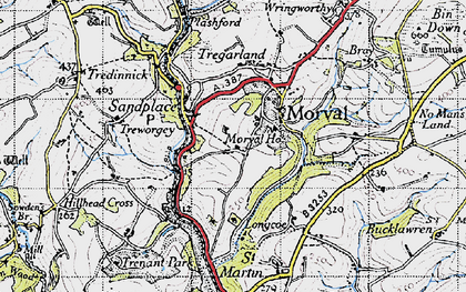 Old map of Sandplace in 1946