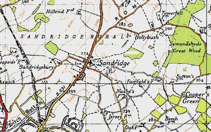 Old map of Sandridge in 1946