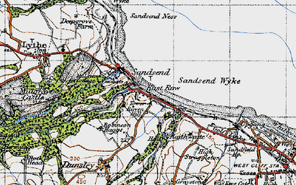 Old map of Sandsend in 1947