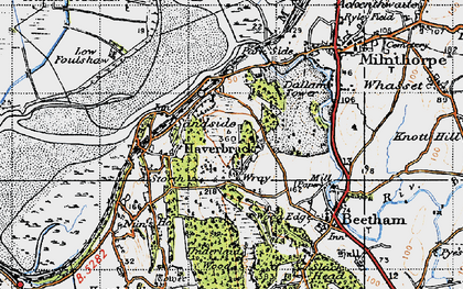 Old map of Wray Cott in 1947