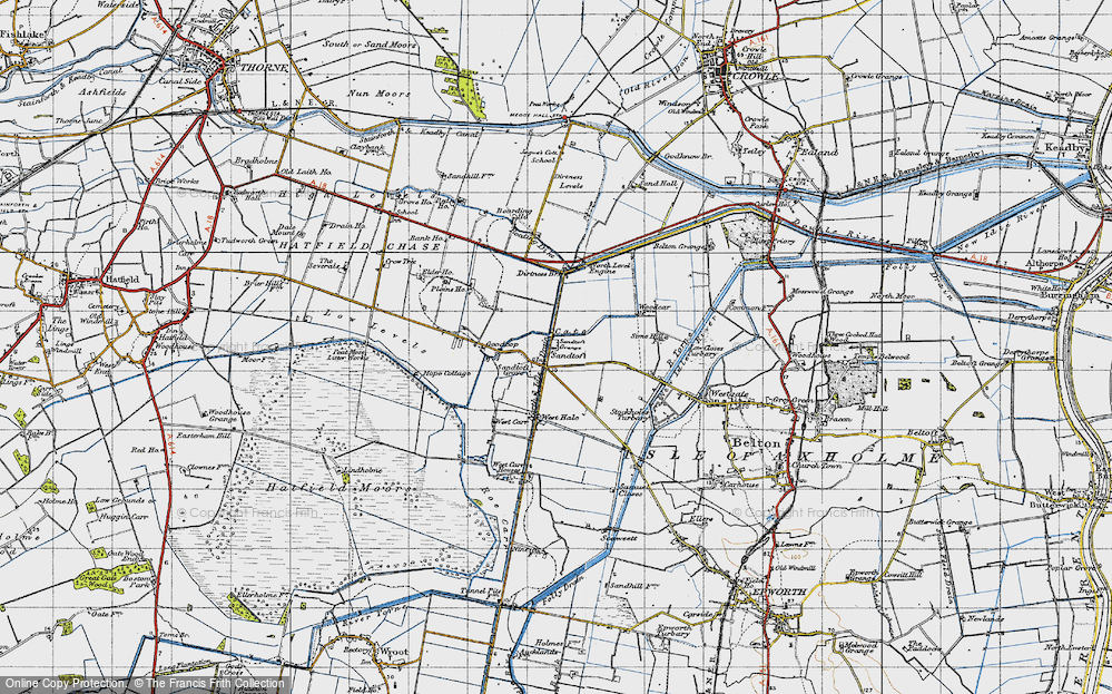 Old Map of Sandtoft, 1947 in 1947