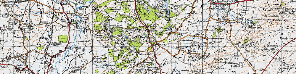Old map of Whetham in 1940