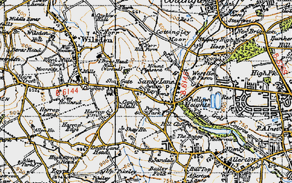 Old map of Bailey Fold in 1947