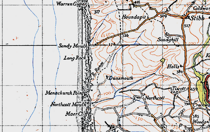 Old map of Sandy Mouth in 1946