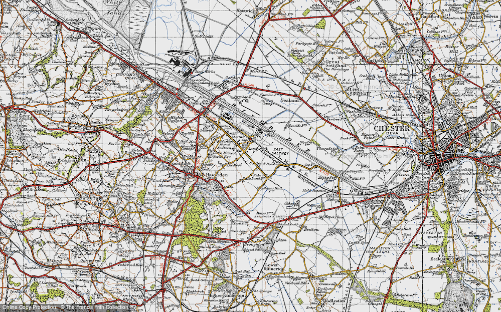 Old Map of Sandycroft, 1947 in 1947