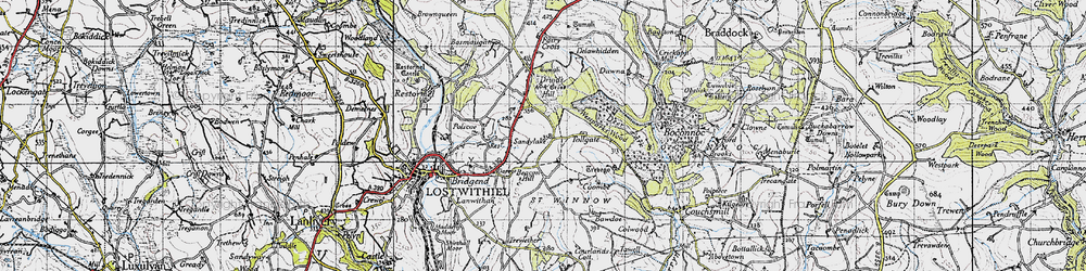 Old map of Tollgate in 1946