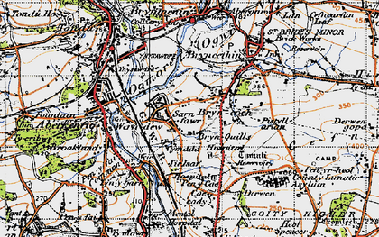Old map of Sarn in 1947
