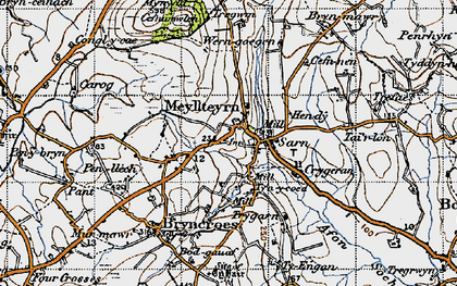 Old map of Afon Soch in 1947