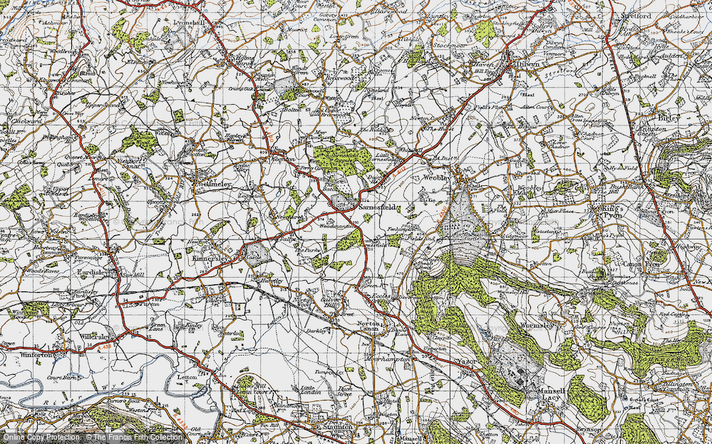 Old Map of Sarnesfield, 1947 in 1947