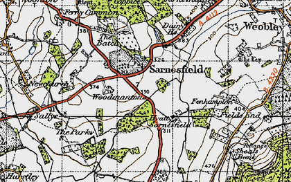 Old map of Sarnesfield in 1947