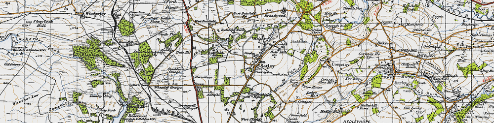 Old map of Adelphi in 1947