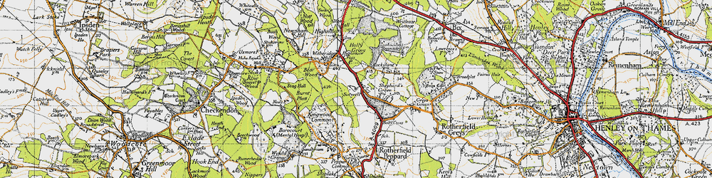 Old map of Kingwood Common in 1947