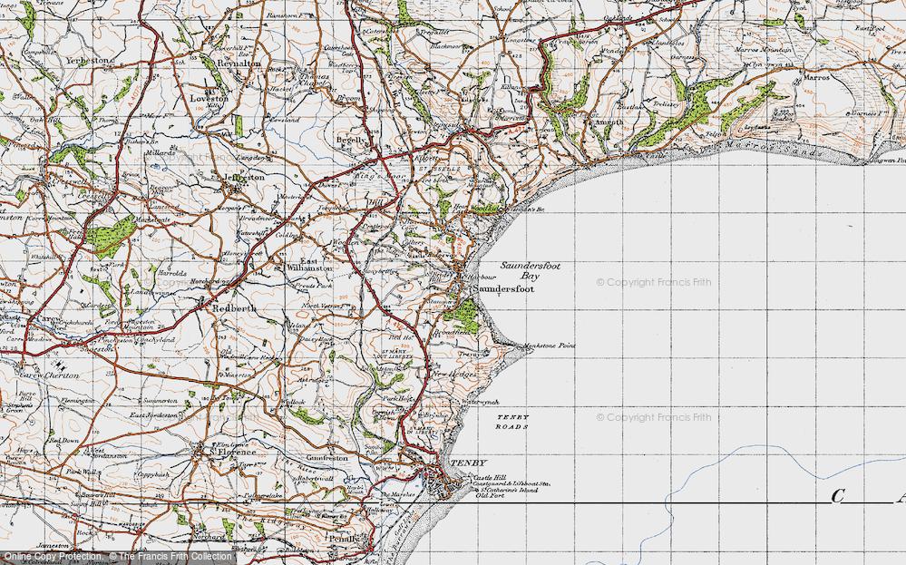 Old Map of Saundersfoot, 1946 in 1946