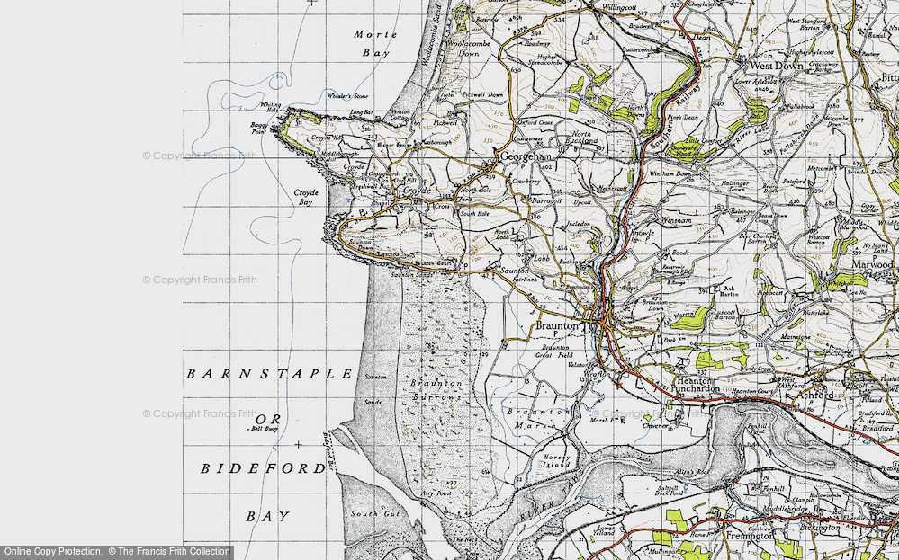 Old Map of Saunton, 1946 in 1946