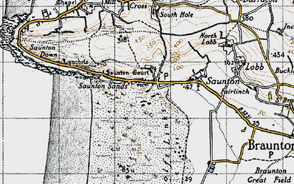 Old map of Saunton in 1946