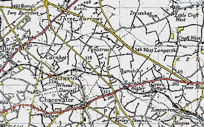 Old map of Saveock in 1946