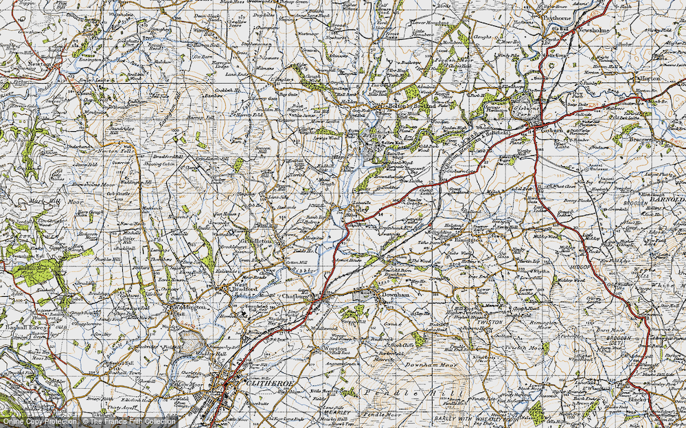 Old Map of Historic Map covering Lawson Ho in 1947