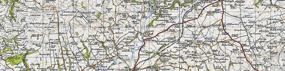 Old map of Till Ho in 1947