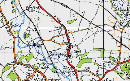 Old map of Sawston in 1946
