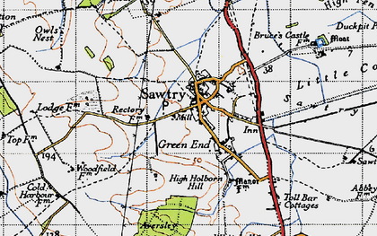 Old map of Sawtry in 1946