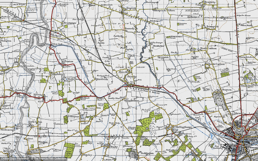 Old Map of Saxilby, 1947 in 1947