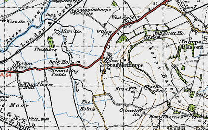 Old map of Whinflower Hall in 1947