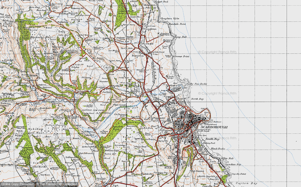 Old Map of Scalby, 1947 in 1947